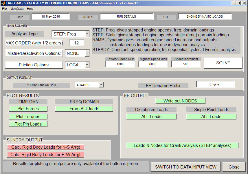 ENGLOAD: AAL engine loads software